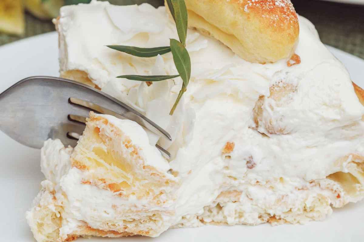torta fredda con savoiardi e ricotta