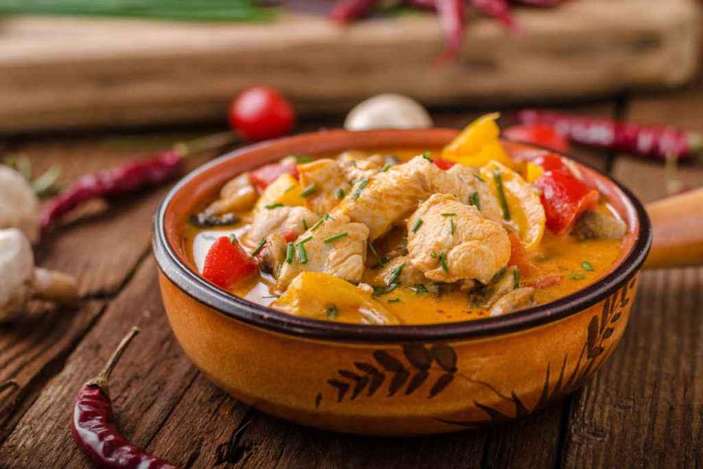 pollo al curry e verdure