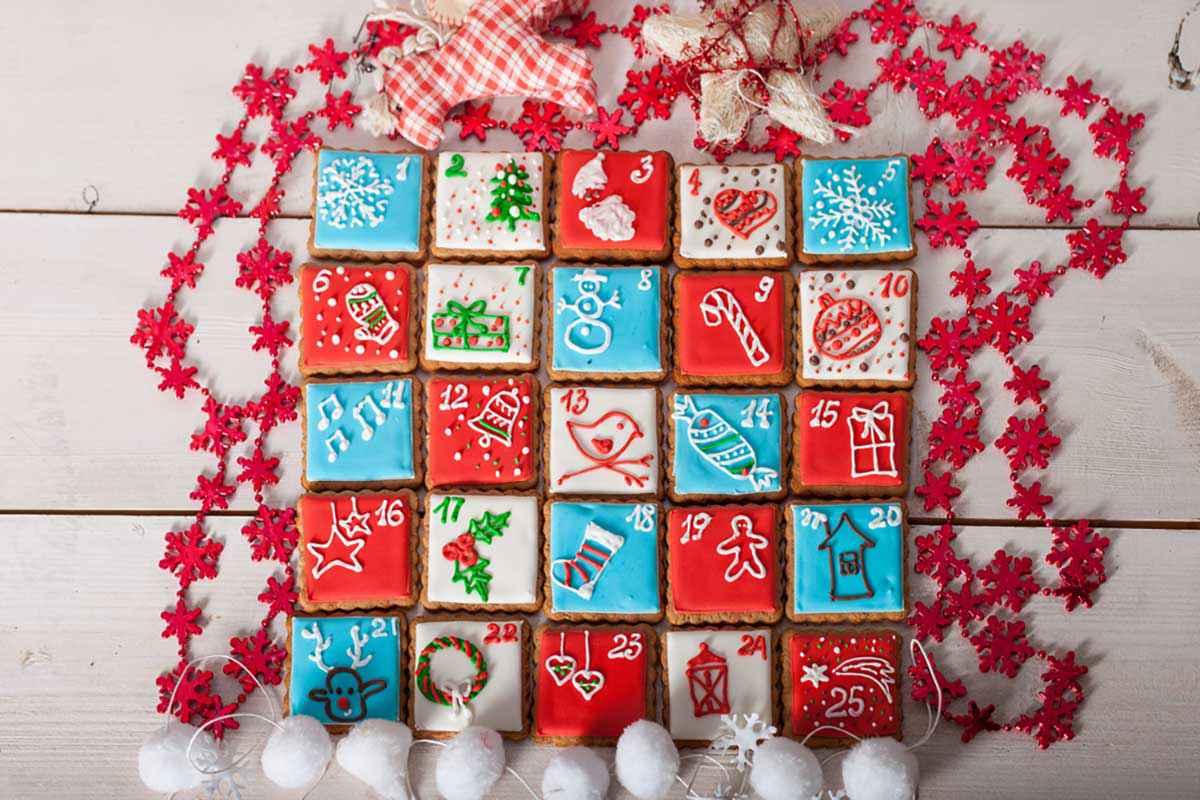 Calendario dell'Avvento di biscotti