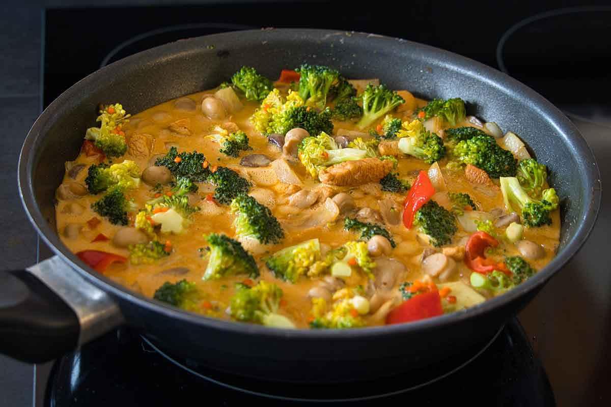 Spezzatino di pesce con i broccoli