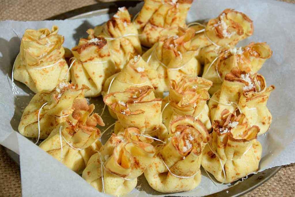 Fagottini di crepes salate