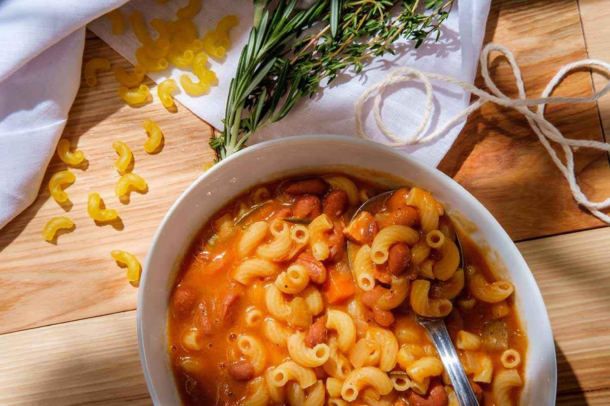 Pasta e fagioli con il Bimby