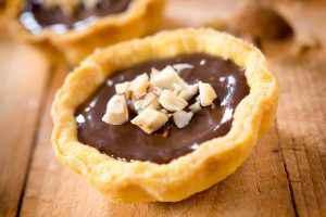 crostatina al cioccolato con nutella