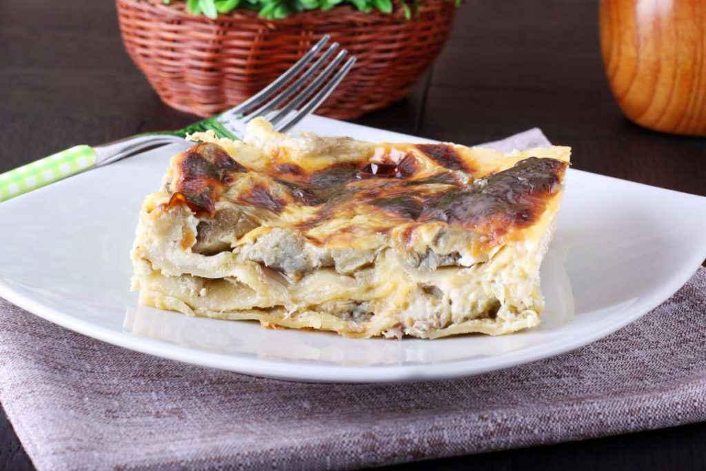 lasagne bianche ai carciofi