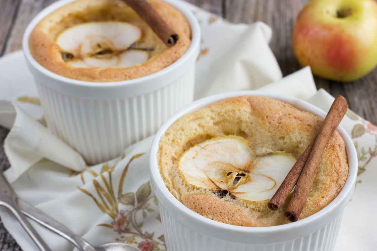 Soufflè di mele e gelato