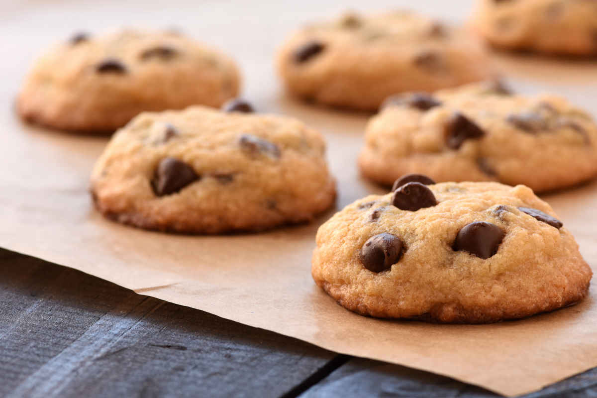 biscotti alla quinoa e gocce di cioccolato