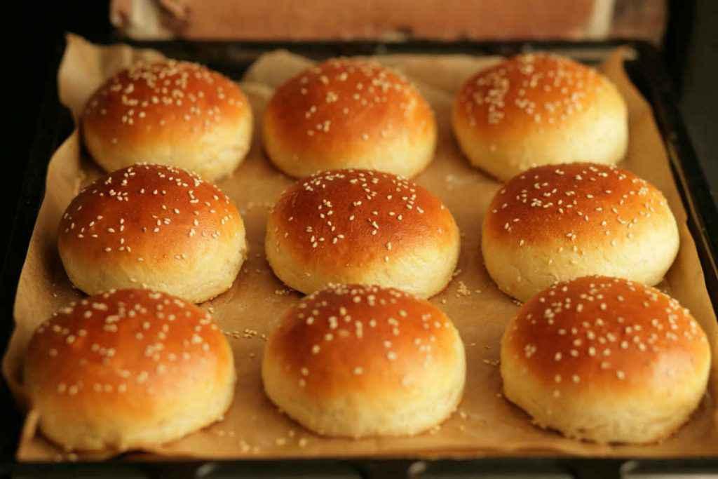 burger buns panini con sesamo