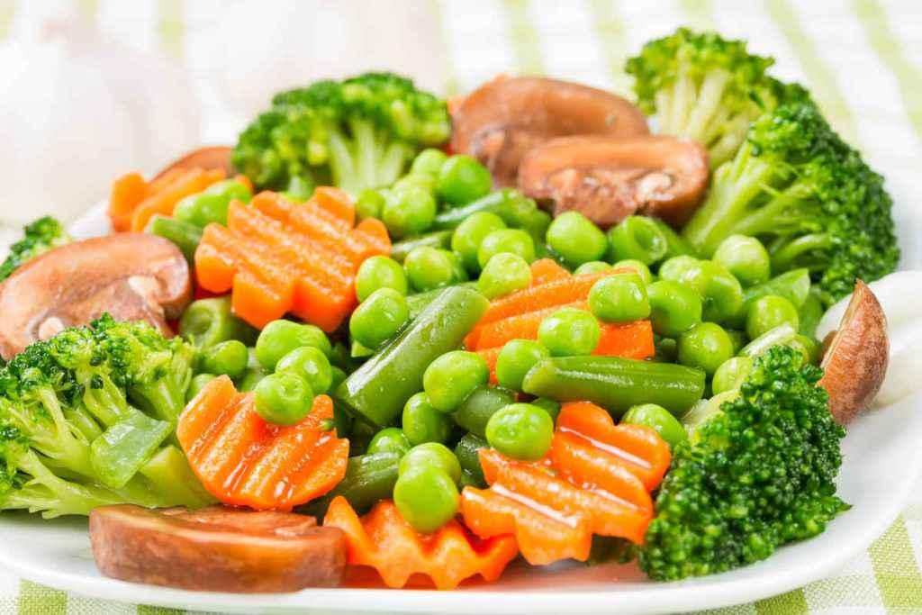 insalata di verdure al vapore