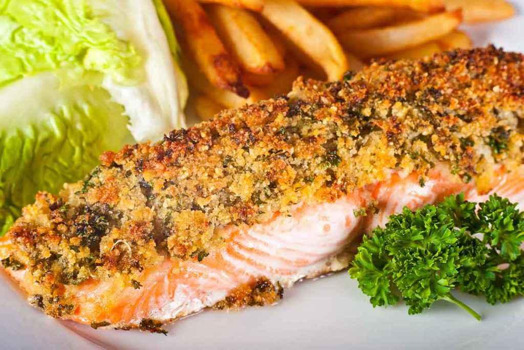 Salmone in crosta fatto al forno con spezie