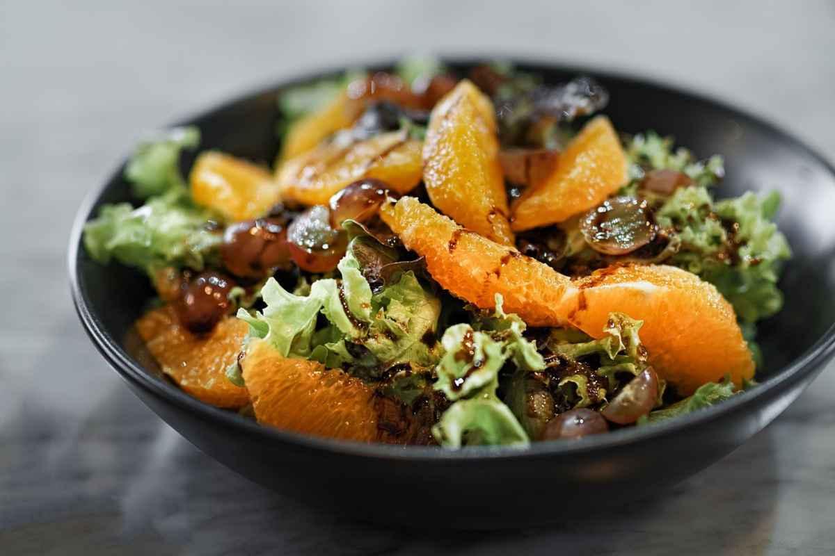 insalata lattuga e arance