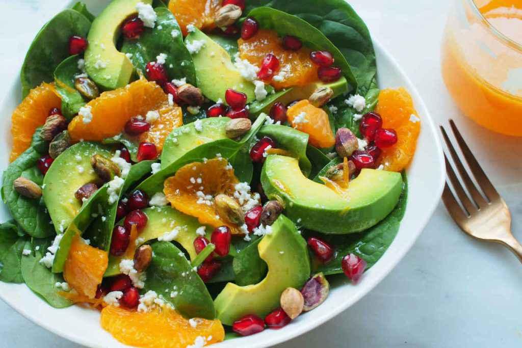 insalata con avocado e arance