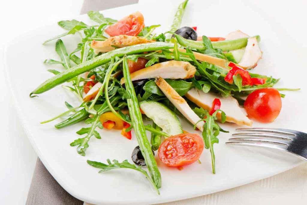 insalata di pollo e fagiolini