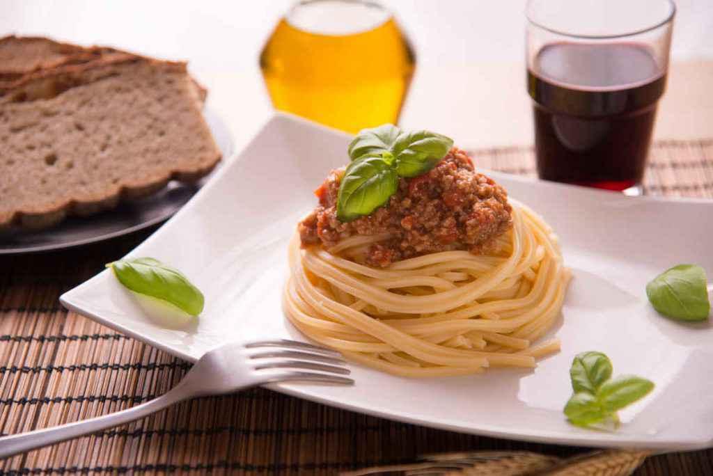 pasta al ragu vegetariano con seitan