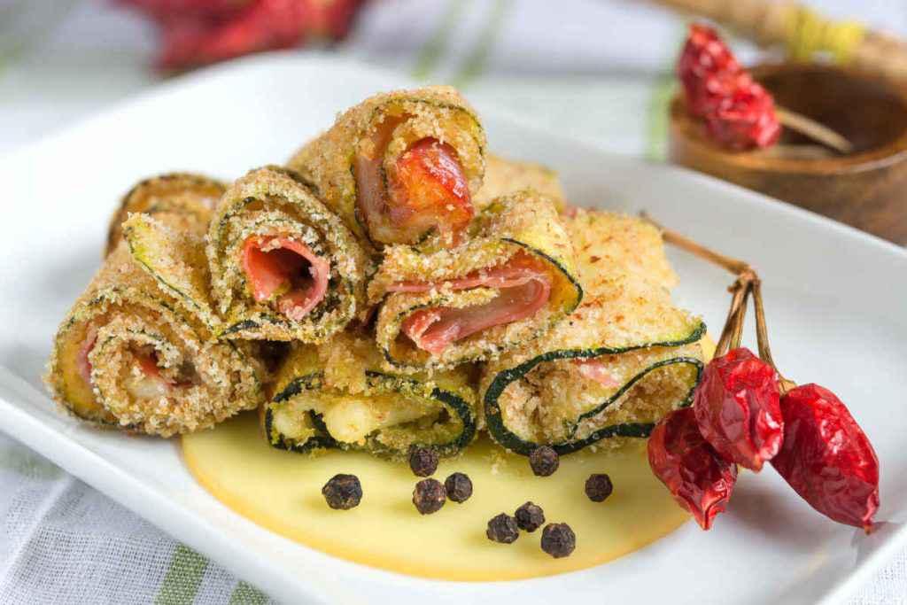 involtini di zucchine gratinati ricette per ferragosto