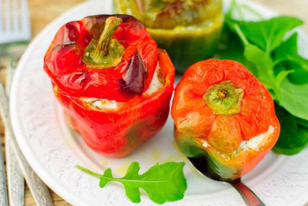 peperoni ripieni vegetariani con ricotta