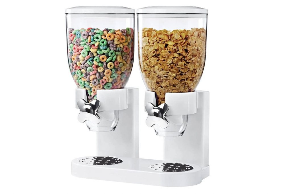 doppio dispenser per cereali e muesli