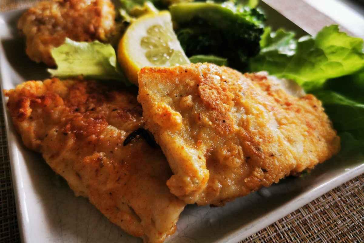 Pesce persico in crosta di parmigiano