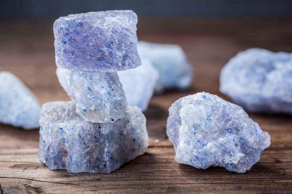 blocchi di sale blu di Persia
