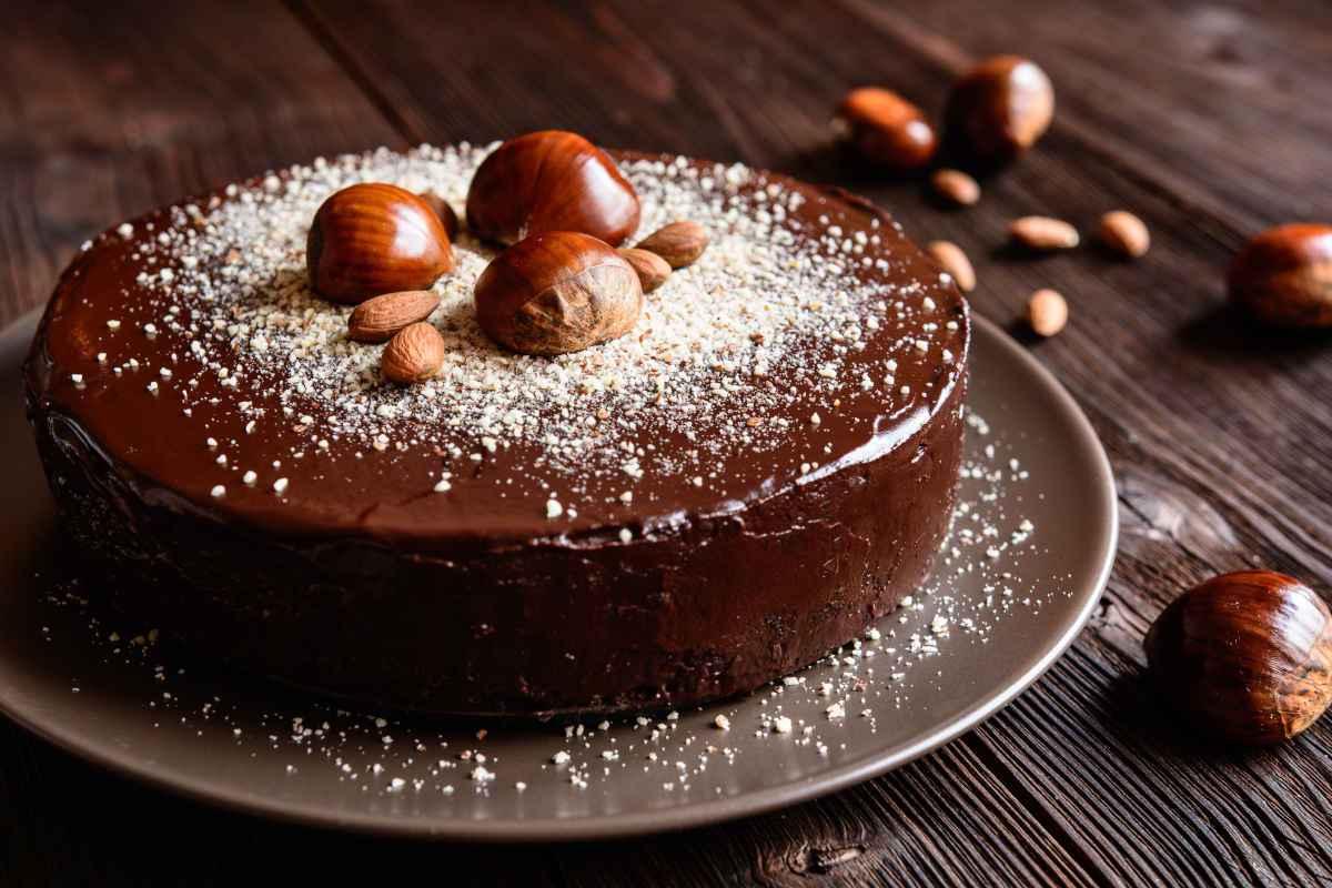 torta glassata al cioccolato differenze tra castagne e marroni ricette dolci