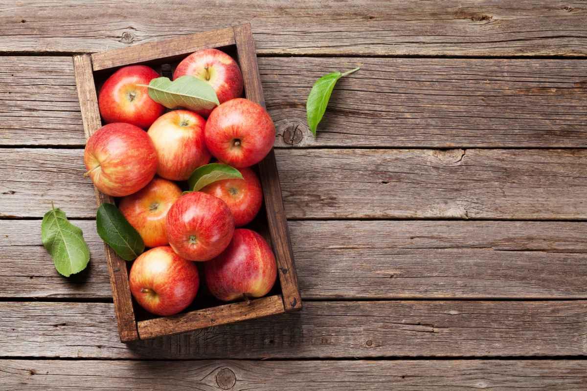 cassetta di mele da usare per il menu