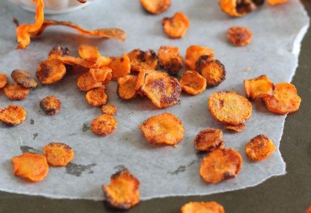 Chips di carote al forno
