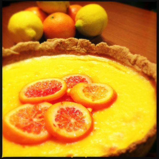 Crostata cioccolato e arance