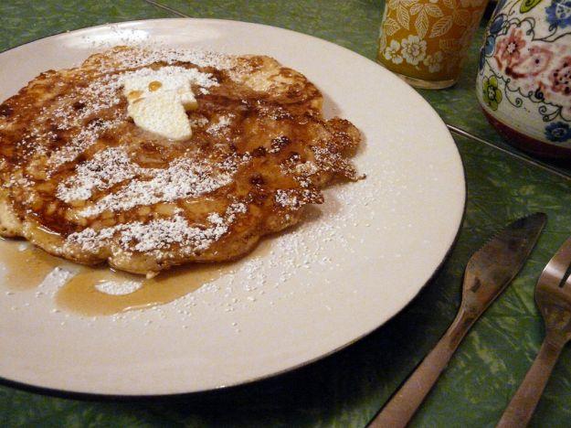 Pancakes di noci e mele