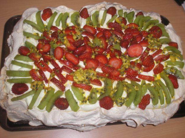 La torta Pavlova