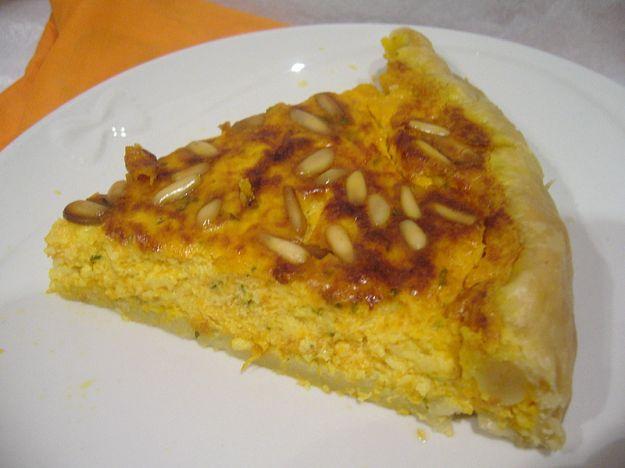 Torta salata di zucca e Roquefort