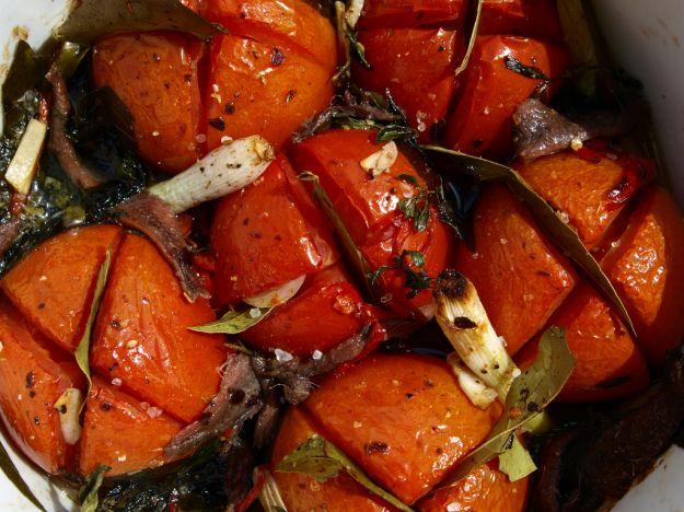 Acciughe e pomodori
