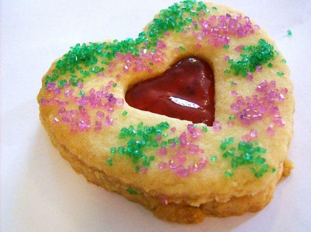 Biscotti frollini a forma di cuore