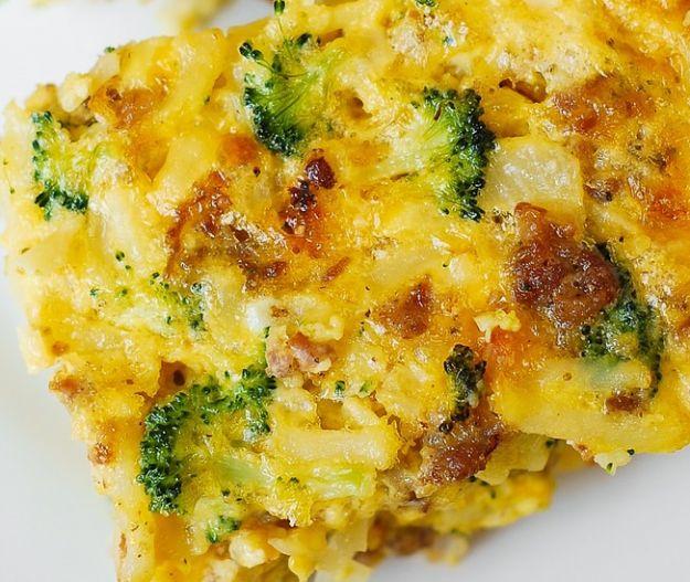 broccoli formaggio e salsiccia