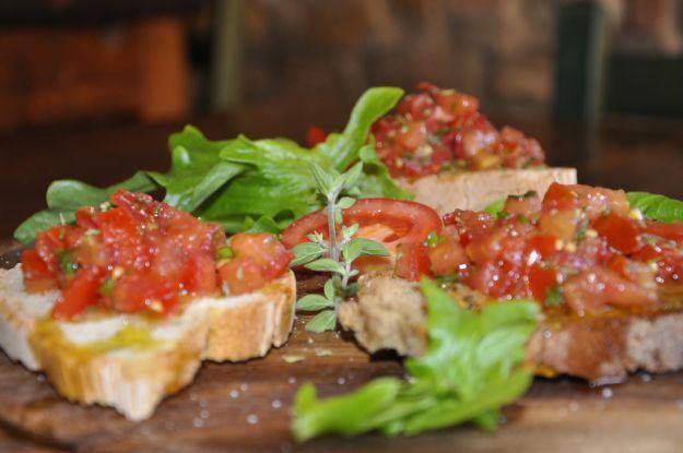 Bruschette pizza Margherita