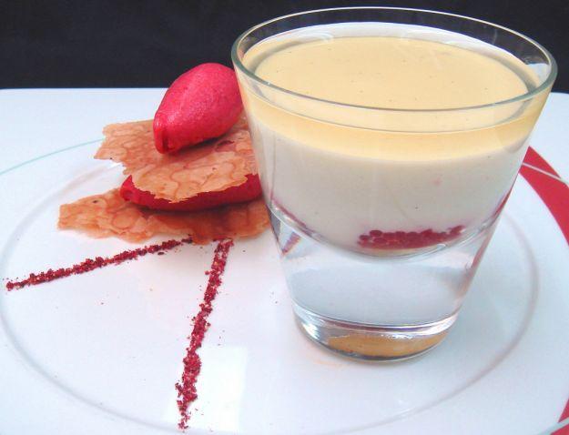 Budino di soia alla vaniglia senza uova