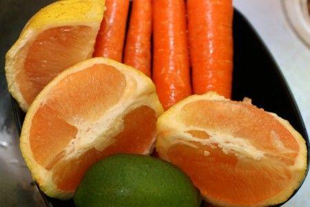 Insalata di carote e pompelmo rosa