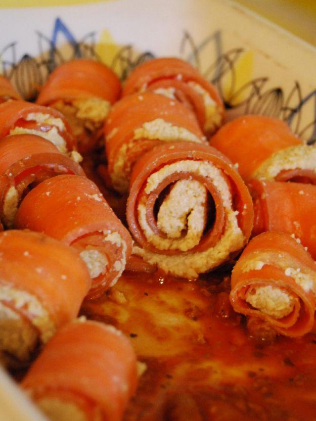 carote ripiene di tonno