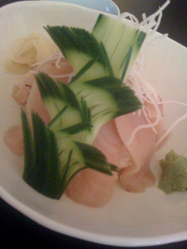 carpaccio di cetrioli e tonno