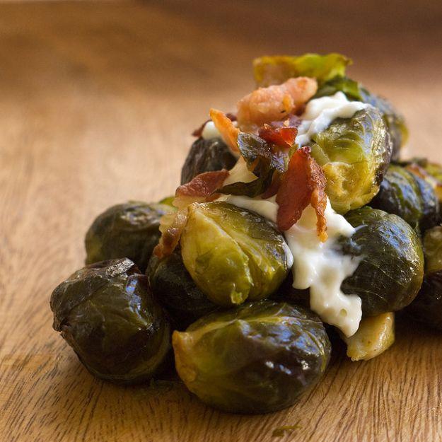 Cavoletti di Bruxelles con pancetta e formaggio
