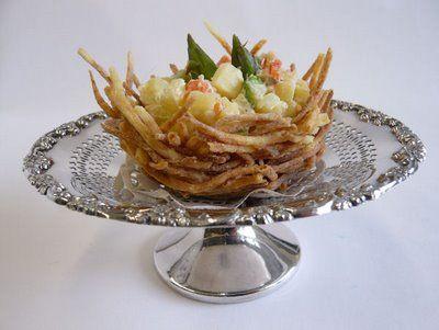 cestini di patate fritte