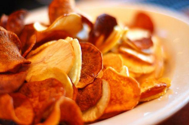 Chips al forno croccanti
