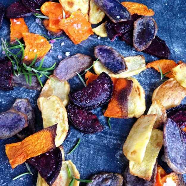 Chips di verdure al microonde
