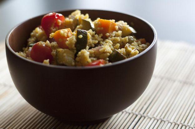 Cous cous con lenticchie e verdure