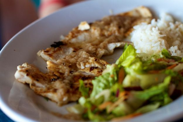 This was a fish dish, I think the fish was a snapper. It was with some type of chili garlic sauce again I think.