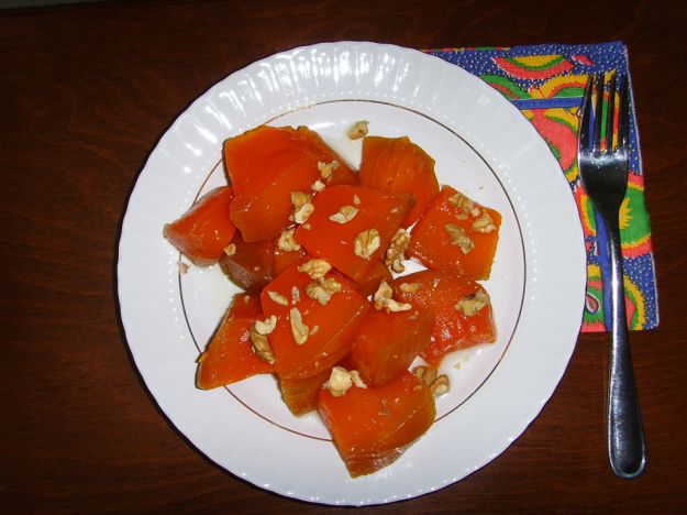 Dessert turco di zucca e noci (kabak tatlisi)