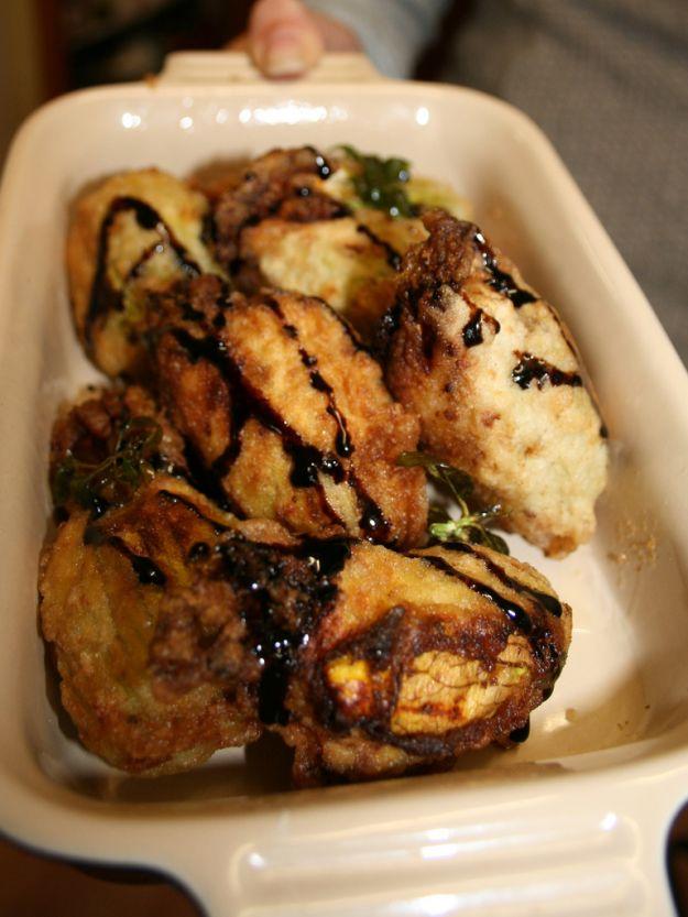 Fiori di zucca alle patate