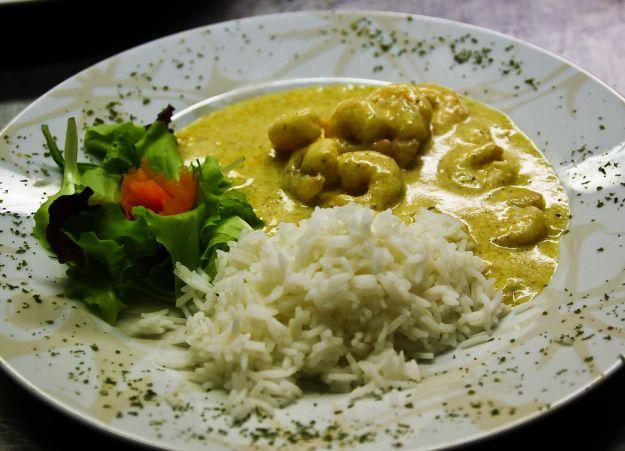 Gamberetti al curry