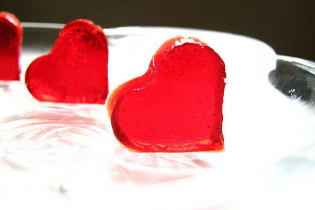 gelatine dolci a forma di cuore san valentino