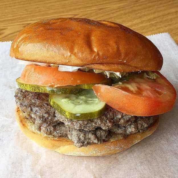 Hamburger farcito alle olive