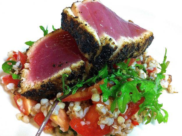 insalata di burghul con tonno e zenzero