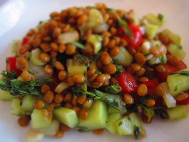 insalata lenticchie e pomodorini